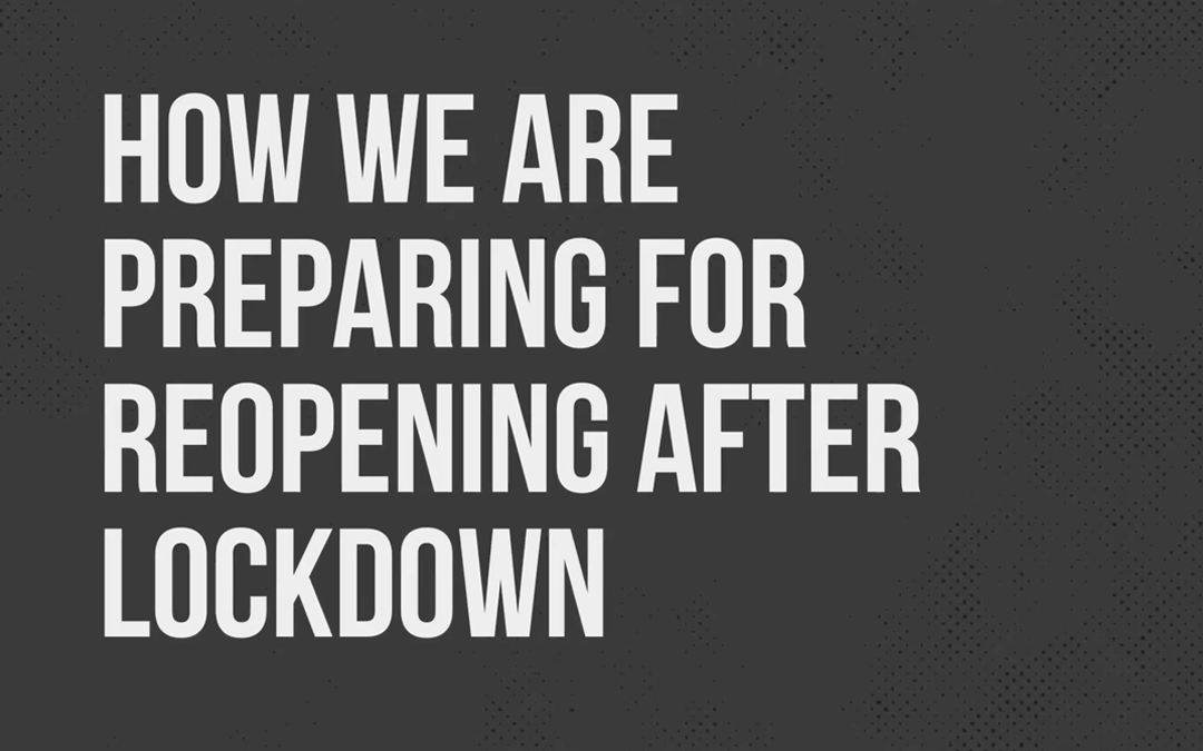 We're reopening soon!